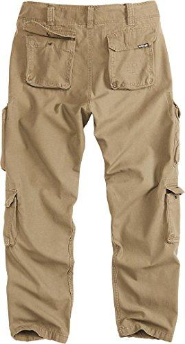 Vintage Surplus Pantalon Homme Beige Airborne Slim Cargo rqPIUq