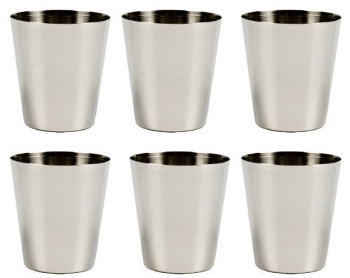 Stainless Steel Shot Glass, 2 Ounce - Set of 6