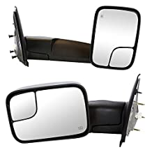 Prime Choice Auto Parts KAPCH1320228PR Towing Power Heated Side Mirrors Pair Set