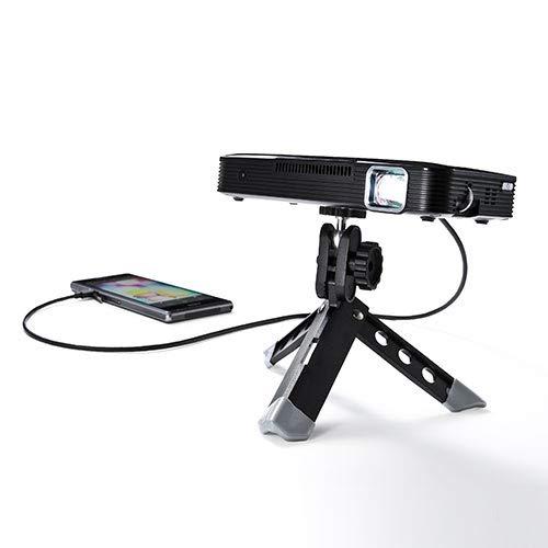 イーサプライ プロジェクター 小型 HDMI モバイルプロジェクタ 200ルーメン バッテリー内蔵 コンパクト スマートフォン タブレット 携帯 プロジェクタ EZ4-PRJ021 B07F35MP4P
