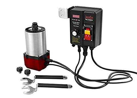 JessEm Pow R Tek 3-1/4 HP Woodworking Router Motor with EVS Remote Control Box (Remote Control Viking)