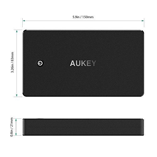 AUKEY 20000mAh moveable Charger using quickly fee 30 power Bank Lightning Micro foundation two times USB output Battery Pack for Samsung Note 8 S8 around Chargers