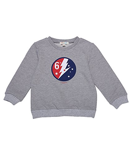 Oceankids Little Girl's Cotton Sweatshirt with Ribbed Crew Neck and Cuffs Grey 4T