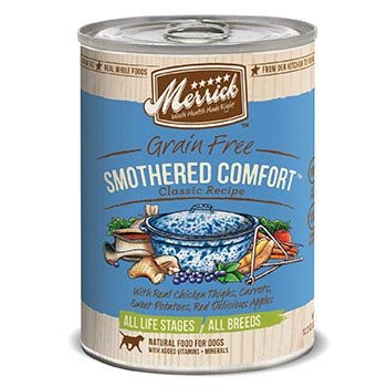 Merrick Classic Grain Free Smothered Comfort Canned Dog Food 12-13.2 oz cans