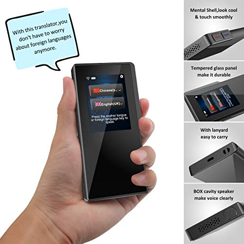 Birgus Smart Voice Translator Device with 2.4 Inch High Definition Touch Screen Support 70 Languages for Travelling Abroad Learning Shopping Business Chat Recording Translations by Birgus (Image #6)