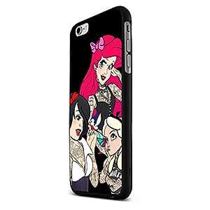 Princess Punk and Tattoo Custom Case for Iphone 5/5s/6/6 Plus (Black Iphone 6 Plus) hjbrhga1544
