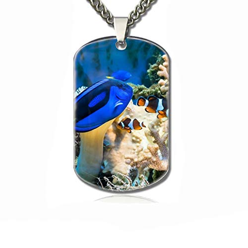 PANQJN Dog Tag Chains-The Underwater World Family pet Identification Card