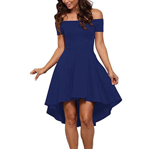 Women's Dress,Neartime Off the Shoulder Cocktail Formal Swing Dress (M, Blue)