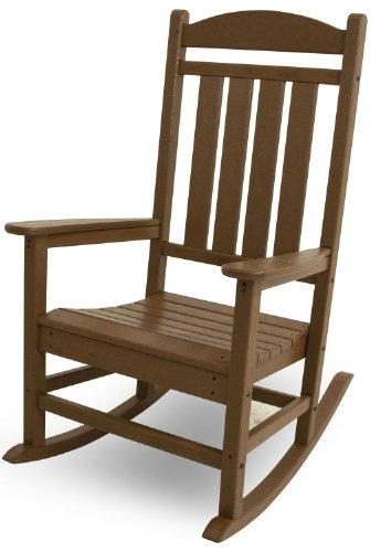 Office Teak Chair (POLYWOOD R100TE Presidential Rocker, Teak)