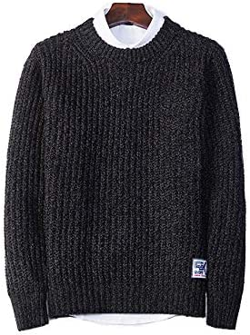 春と冬の服 メンズプルオーバーセーターセーター スリムフィット ボトミングシャツ ラウンドネックセーター