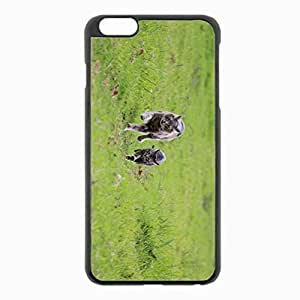 iPhone 6 Plus Black Hardshell Case 5.5inch - couple escape grass Desin Images Protector Back Cover