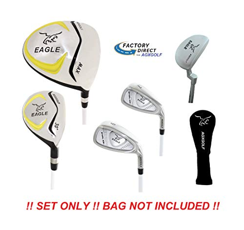 - Junior Eagle Graphite Golf Clubs Set for Boys & Girls 9-12yrs: wDriver, Utility Club, Mid &, Short Irons, Putter and Two Head Covers
