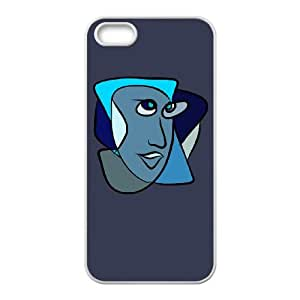 iPhone 5 5s Cell Phone Case White BLUE TR2410468