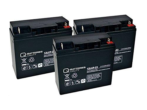 Kompatibler Accu MOTEC Aufsitzmäher Garden Rider 65 36V 3x 12V Ersatz Batterie