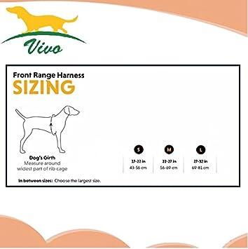 Vivo-NoPull Arnés para perro, Ajustable, Antitranspirante, Suave y Cómodo. Tamaño Pequeño, Mediano y Grande. Reflectante y Antitirones, ideal para pasear o ...