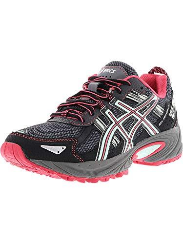 ASICS Women's Gel-Venture 5 Trail Runner, Carbon/Diva Pink/Bay, 6.5 M US