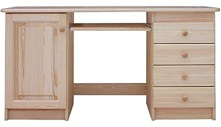 Desk Solid Natural Pine Wood Junco 187 Dimensions 75 X