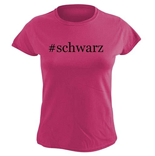 Harding Industries #Schwarz - Women's Hashtag Graphic T-Shirt, Pink, XX-Large (- Schwarz-linse)