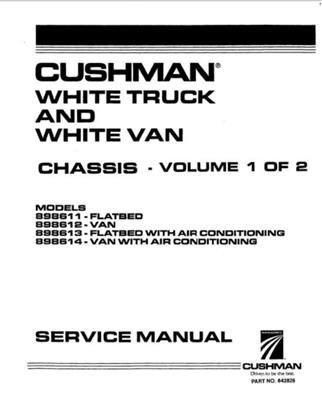 Cushman Cart Parts Manual