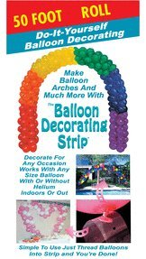 Mayflower 29845 50 Foot Balloon Deco Strip - Clear