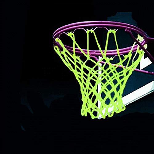lailai Universal Indoor & Outdoor Nylon Basketball Hoop Net Replacement Glow in The Dark, Portable Nylon Basketball Net Replacement