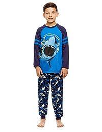 Boys 2 Piece Pajama Set - Long Sleeve Print Top & Jogger PJ Pants