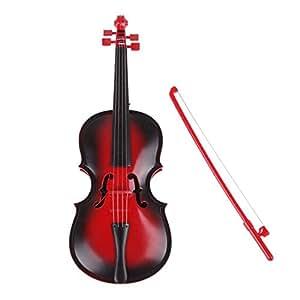 Juguete de Violin - SODIAL(R)Rojo Juguete de regalo