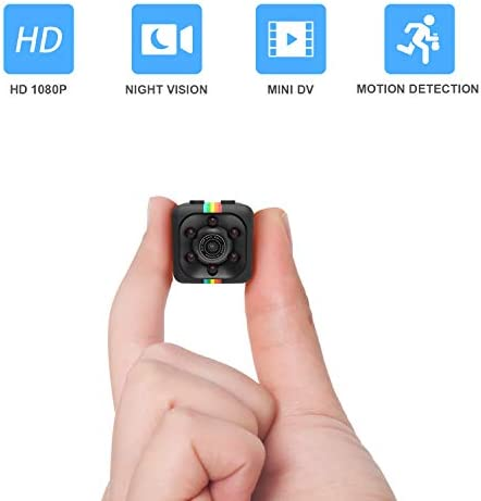 Mini Cop Spy Cam HD 1080P Spy Camera Wireless Hidden No Wi-Fi Needed Nanny Cam with Night Vision and Motion Detection Spy Body Camera Security Surveillance with 32GB SD Card Included