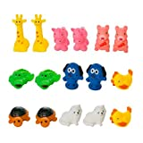 Kidelle(TM) Mini Squeaky Animal Bath Toys 16pc. for Kids Water Fun