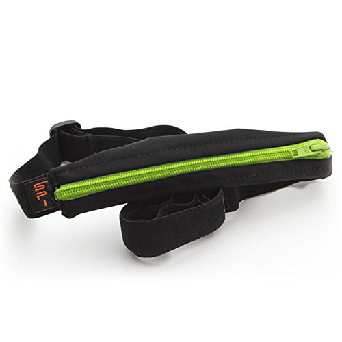 SPIbelt Kids No-Bounce Belt with Hole for Insulin Pump, Medical Devices or Headphones for Active Kids! (Black with Lime Zipper) by SPIbelt (Image #8)