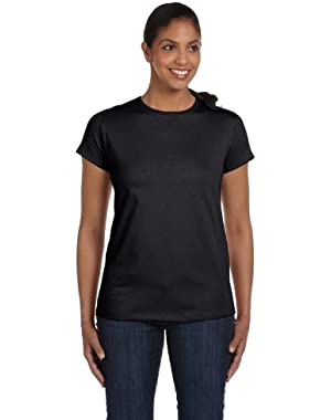 Hanes Ladies Crewneck T-Shirt, Black