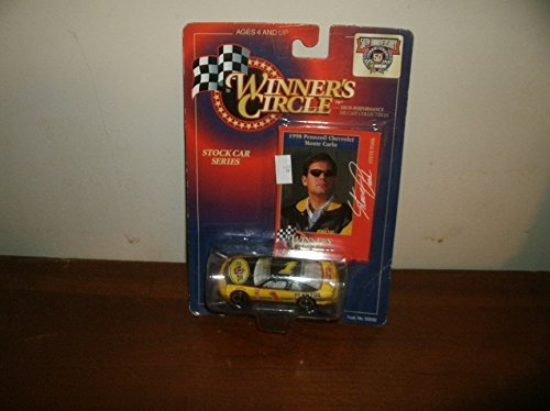 (1998 Steve Park #3 Monte Carlo Pennzoil Monte Carlo 1/64 Scale Diecast With Photo Collectors Card Insert DEI Owned Car Winners Circle Edition)