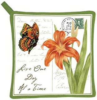 product image for Alice's Cottage Orange Butterfly Potholder