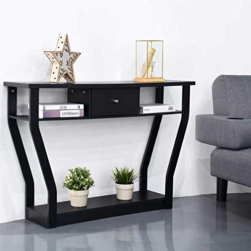 Modern Console Table,Entryway Table Sofa Table,Living Room Table with Drawer and Shelf