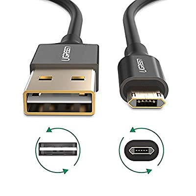 UGREEN 3 Pack Reversible Micro USB Cable 3 Feet Nylon Braided Double Sided USB Charging Cord Data Sync for Android Devices, Samsung Galaxy S7, S6, S6 Edge, S5, LG G3, G4, Nexus