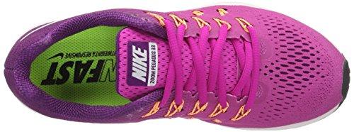 Nike Damen Air Zoom Pegasus 33 Feuern Sie Rosa / Weiß / helle Traube ab
