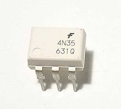 Fairchild Semiconductor 4N35 Optocouplers Phototransistor (Pack of 10)