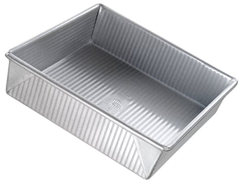 Usa Pan 1130bw Nonstick Surface Steel Square Cake Pan, 12 Cu
