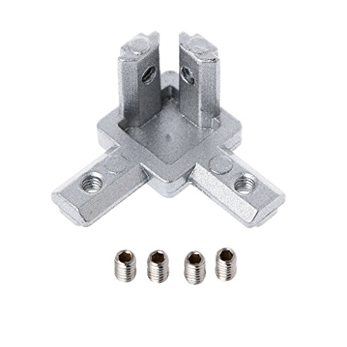 Aluminum 3 Way (SYlive 4pcs T Slot Aluminum Profile 3-way Corner Bracket Interior Connector for 3D Printer (2020))