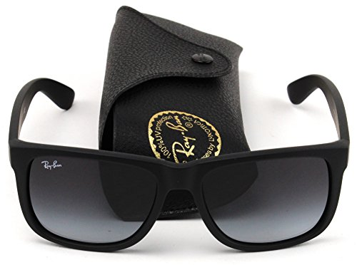 Ray-Ban RB4165 601/8G Justin Unisex Sunglasses Black Frame / Gray Gradient - Boyfriend Ban Ray