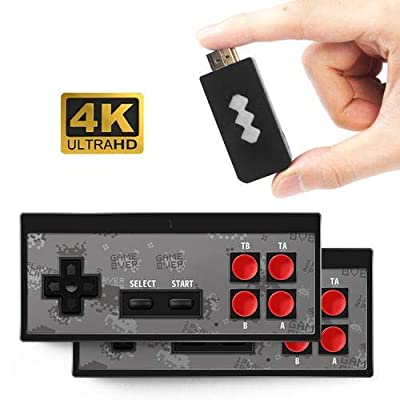 isilky 4K HDMI Video Game Console Mini Retro Console Wireless Controller HDMI Output Dual Players(Batteries Not Included): Home & Kitchen