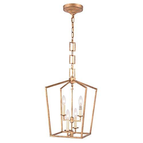 Elegant Lighting Denmark 4 Light Pendant in Golden - Light Pendant 4 Denmark