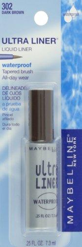 Maybelline New York Ultra Liner Waterproof Liquid Eyeliner, 302 Dark Brown, 0.25 Fluid Ounce
