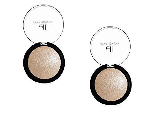 2 Pack e.l.f. Cosmetics Studio Baked Highlighter 83704 Moonl