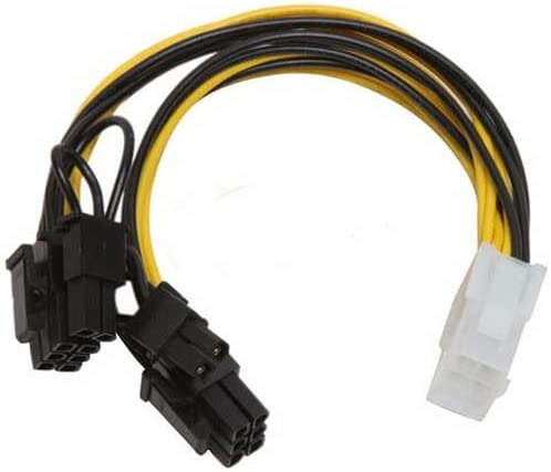 PCI-Express 6 Pin to 2x 6+2 6//8 Pin Splitter PC Video Card Power Supply Y-Cable