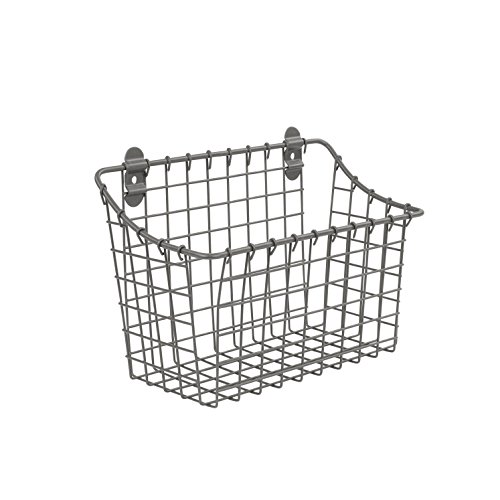 Spectrum Diversified Vintage Cabinet & Wall Mount Basket, Large, Industrial Gray
