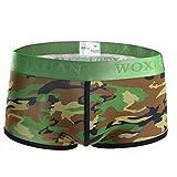 Voberry@ Men's Boxer Briefs Men Sexy Camouflage Underwear Soft Shorts Panties