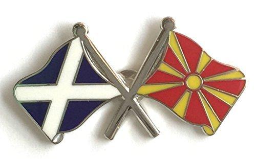 Écosse & Macédoine Drapeaux d'amitié avec Pin's (épinglette Badge en émail