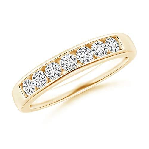 Seven Stone Channel-Set Diamond Wedding Band in 14K Yellow Gold (2.5mm Diamond) ()