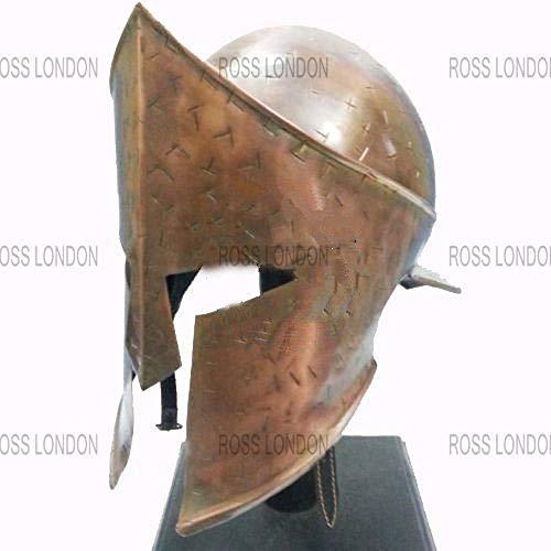 Medieval King Leonidas 300 Spartan Armor Costume LARP Helmet Brown -